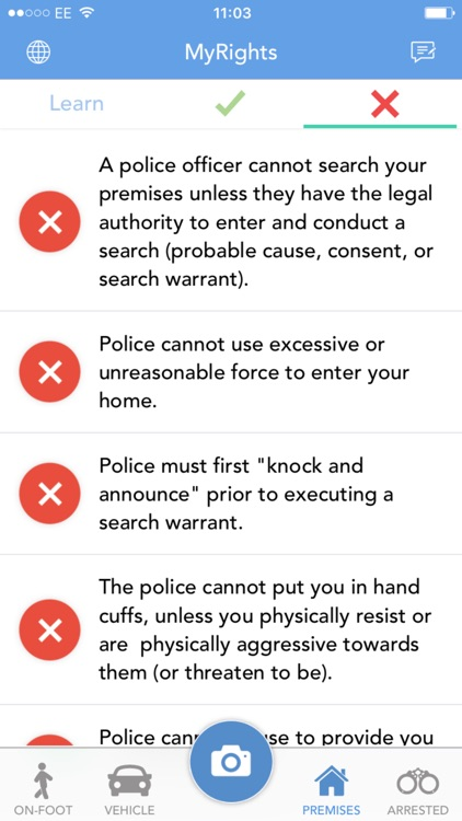 MyRights - Know Your Rights & Rate The Police screenshot-3