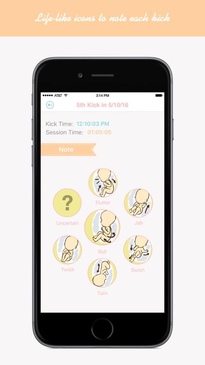 Baby Kicks Tracker - Fetal Kick Timer and Counter screenshot-3