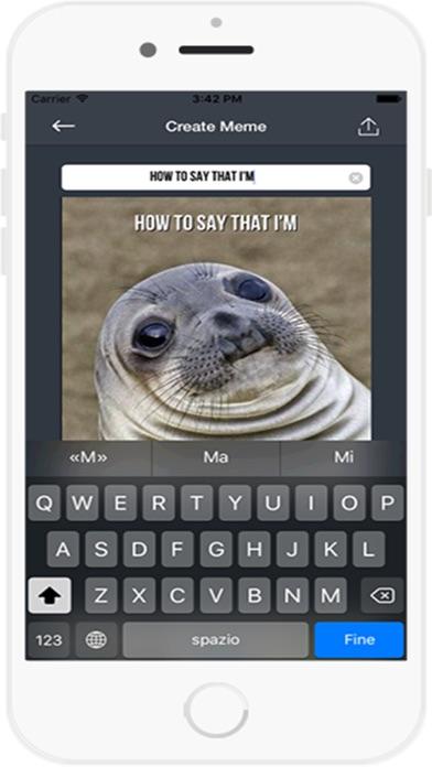 Meme Generator Kostenlose AppScreenshot von 3