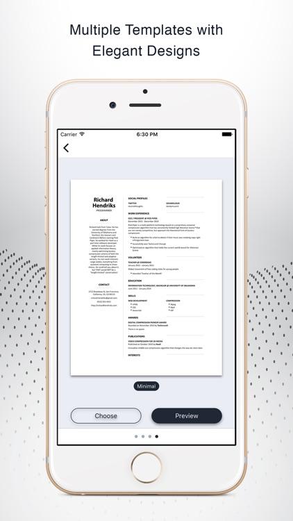 Instant Resume: CV & Resume Builder Free screenshot-3