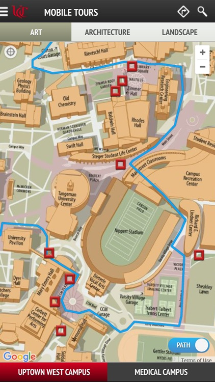 UC Uptown Campus Map Tours by Virtual Grounds Interactive LLC