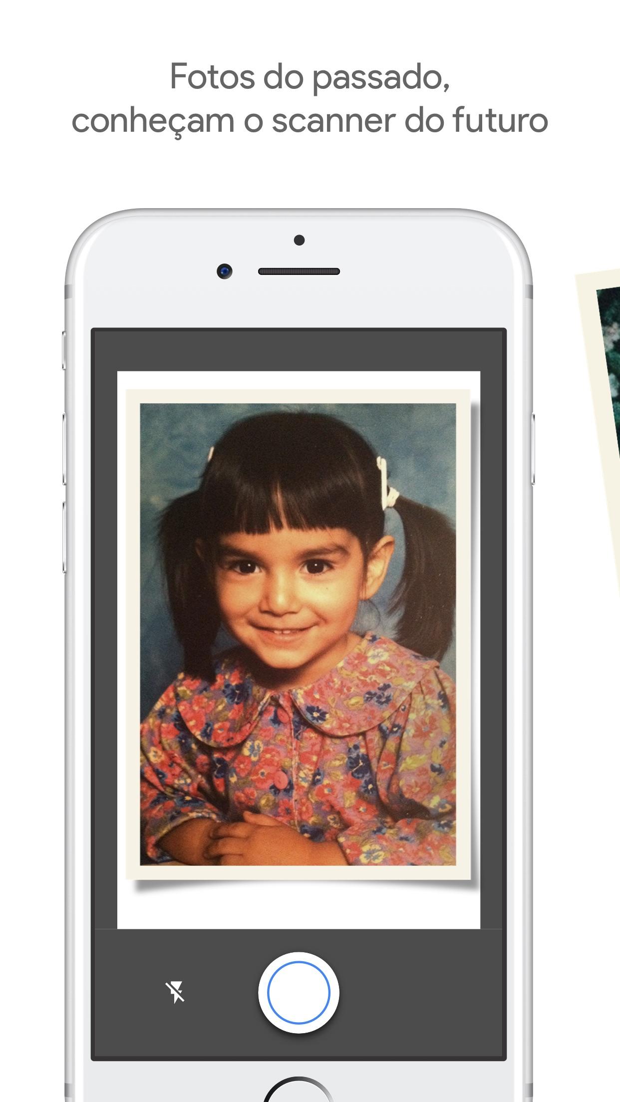 Screenshot do app PhotoScan do Google Fotos