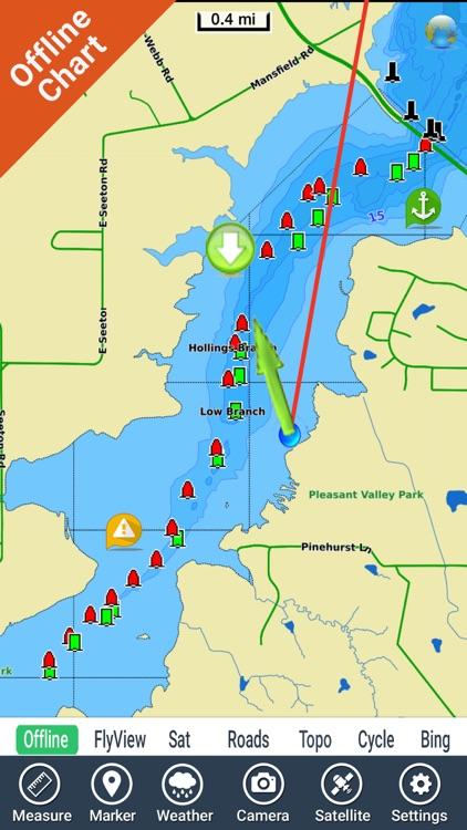 joe pool lake map Joe Pool Lake Texas Hd Gps Fishing Chart Offline By Flytomap joe pool lake map