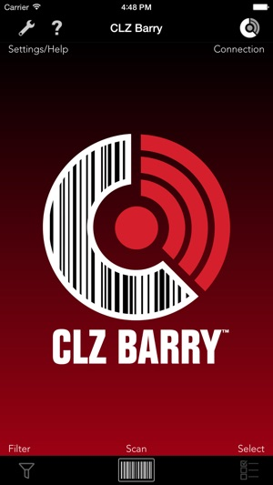 CLZ Barry - Wireless Barcode Scanner Screenshot