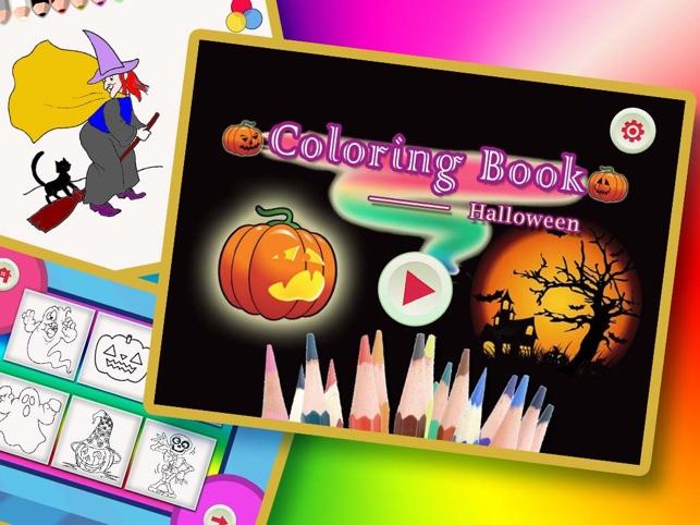 Halloween Malbuch für Kinder zu zeichnen Screenshot