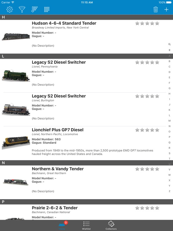 Model Train Collectors - iPad Version
