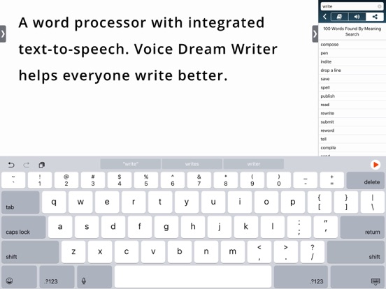 Screenshot #2 for Voice Dream Writer
