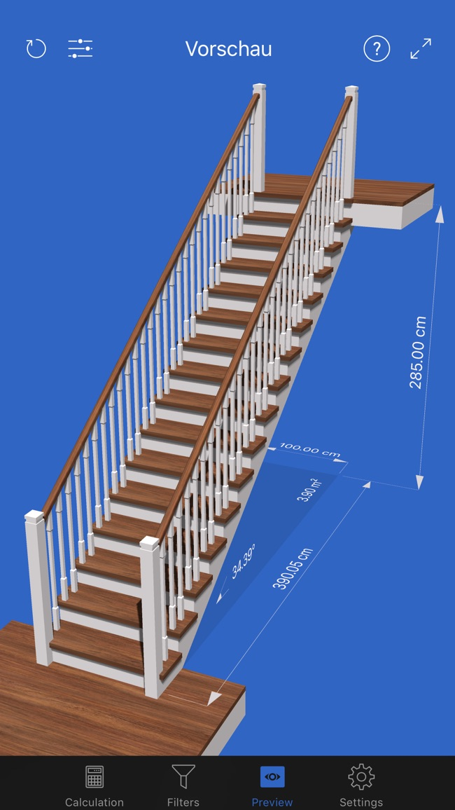 Visual Stair Calc Screenshot