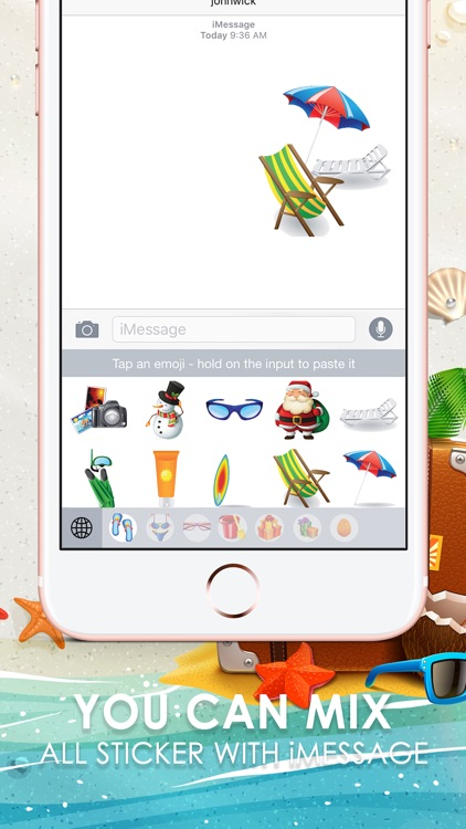 Holiday Emoji Stickers Keyboard Themes ChatStick