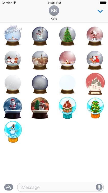 Snow Globe Stickers