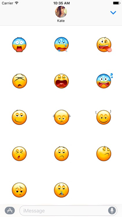Animated Yellow Emoji Smiley Stickers