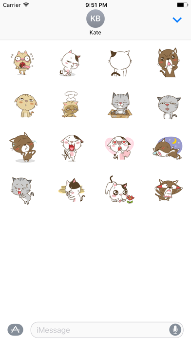 Lovely Stray Cat - Animated Stickers And Emoticons screenshot one