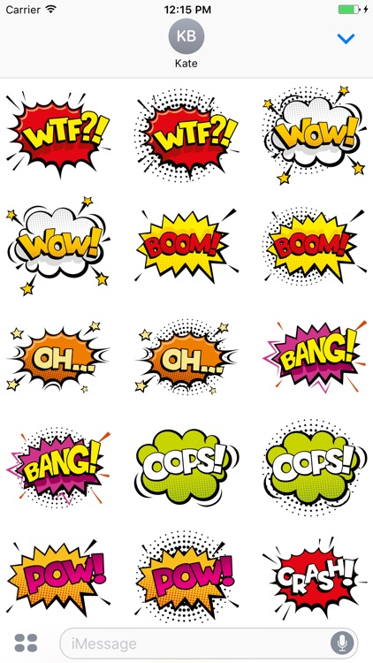 Comic Speech Bubbles Stickers Mania