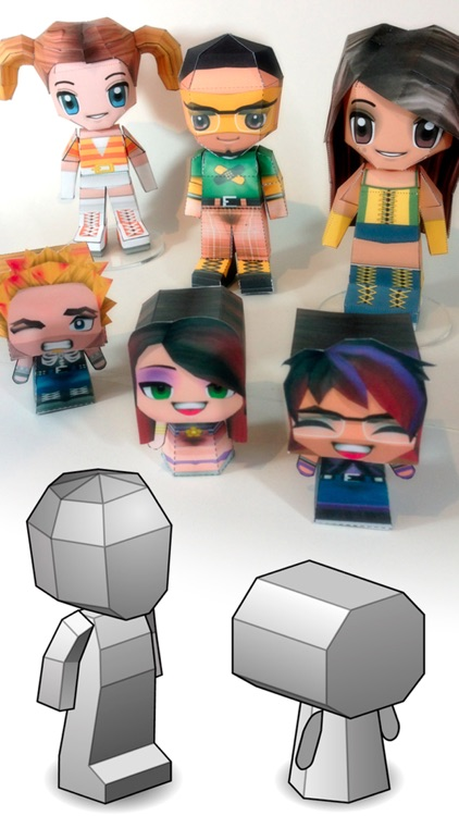 PaperChibi Lite - Free Avatar Papercraft screenshot-3