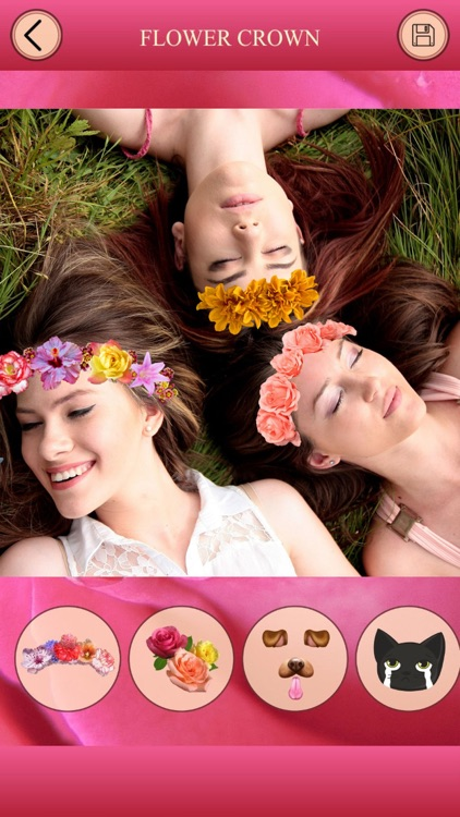 Flower Crown for Snapchat - Photo Editor, FaceSwap