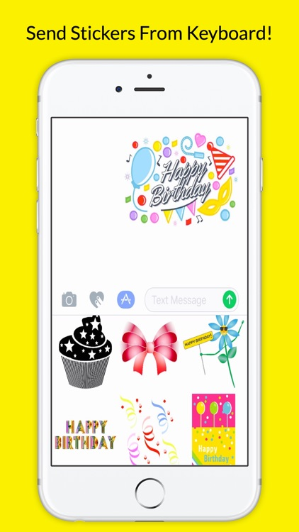 BirthdayMojis Emoji Keyboard App Screenshot 3