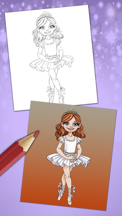 Magical ballerina coloring book pages game Pro screenshot-4
