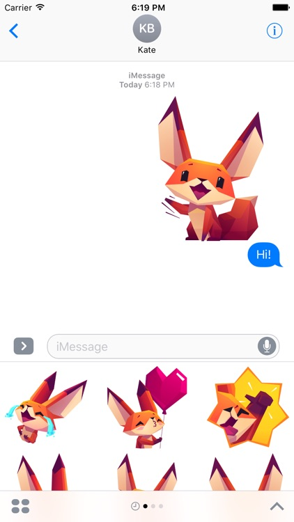 The Little Fox stickers