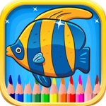 Underwater Coloring Book for Children