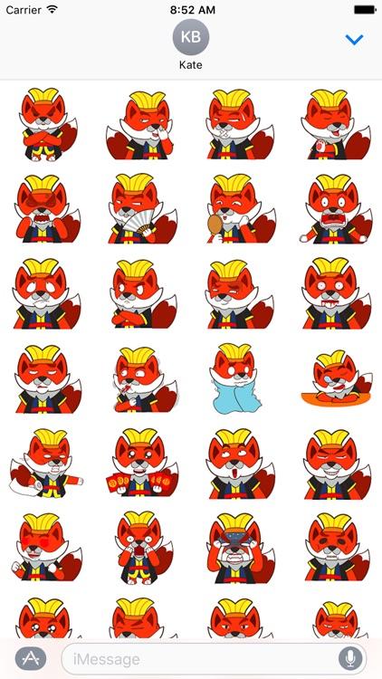 Fox devil emojis - Fx Sticker