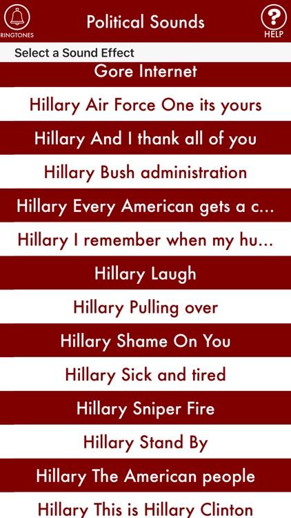 POLITICAL SOUNDS: Trump, Clinton, Obama, Bush