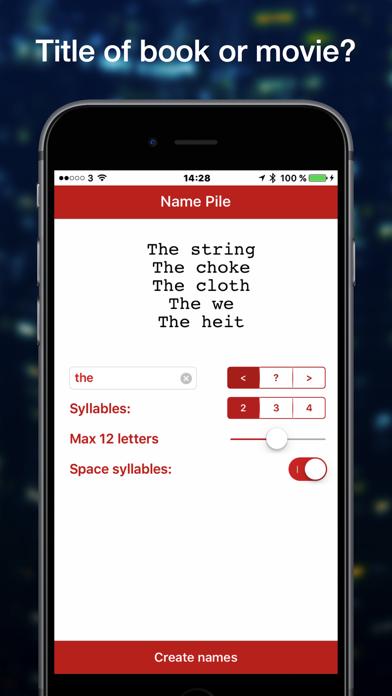 Name Pile Word Generator screenshot two