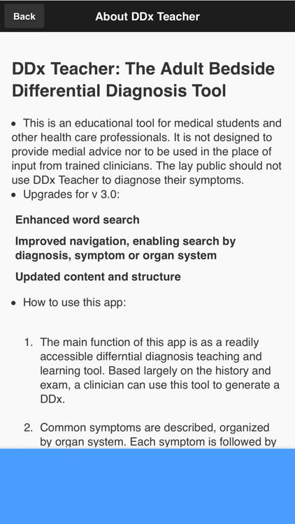 DDx Teacher: Differential Diagnosis/History Aid screenshot-4