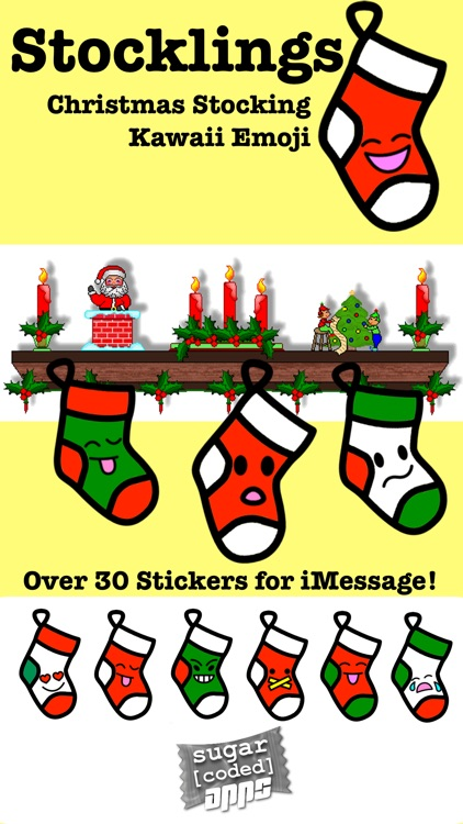 Stocklings: Christmas Stocking Kawaii Emoji screenshot-0