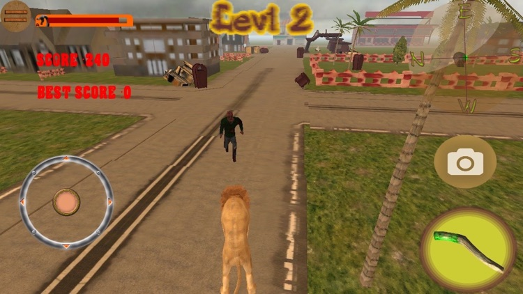 Lion VS Zombies Simulator Pro 3D screenshot-3