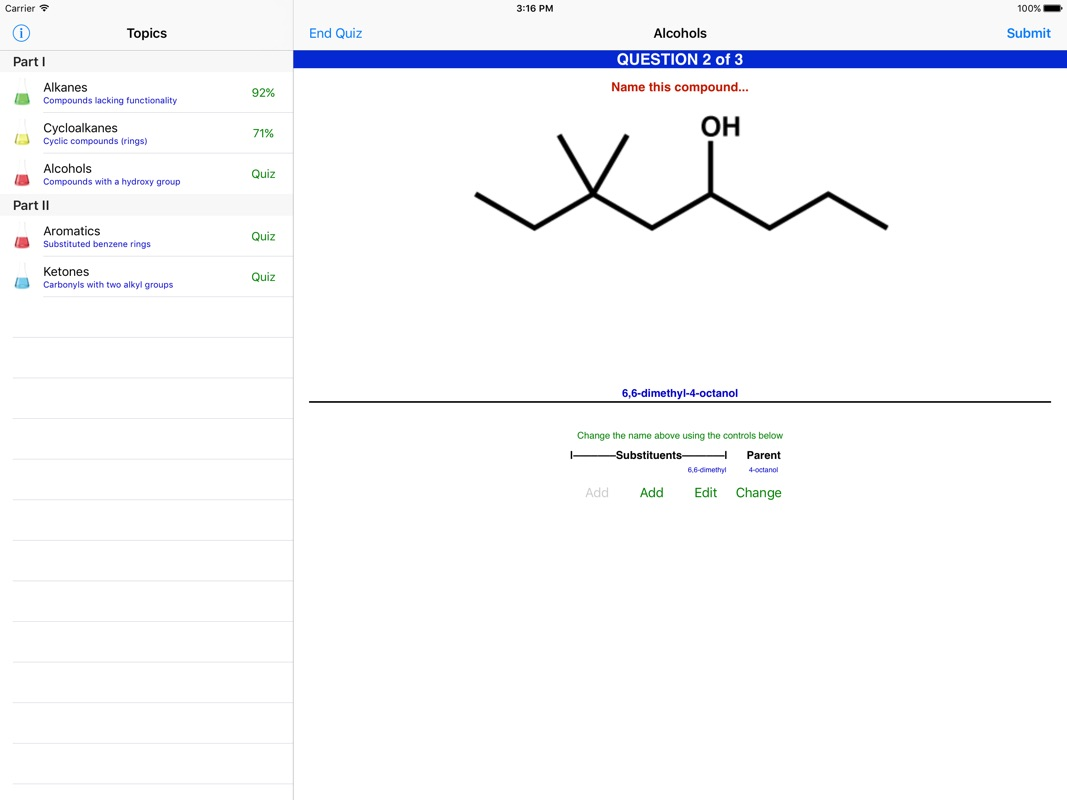 Learn Organic Chemistry Nomenclature LITE - Online Game Hack