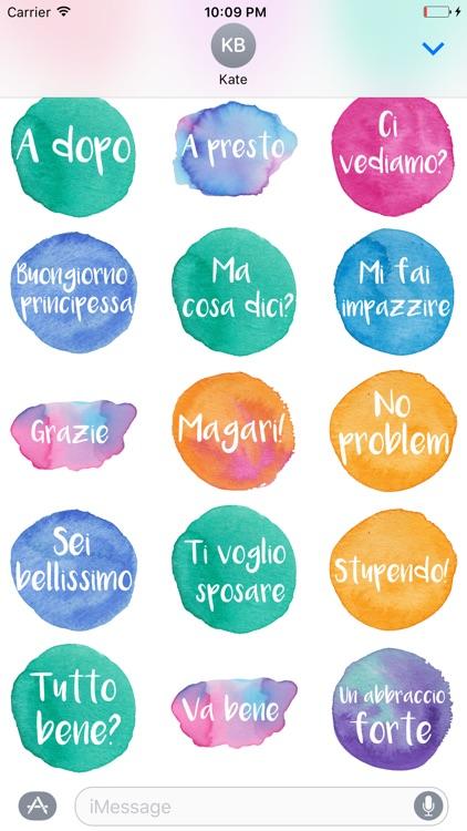 Ciao - Stickers dipinti a mano in acquerello screenshot-3