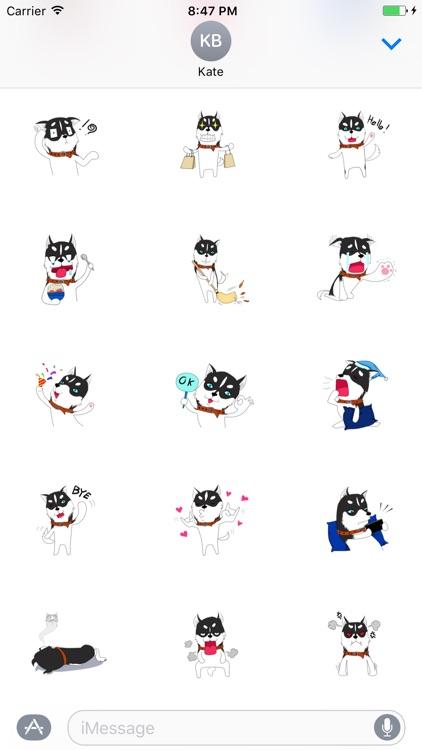 Pleasant Husky Dog Sticker