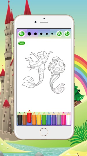 Mermaid Coloring Book Game For Adults Kids Spree On The App Store