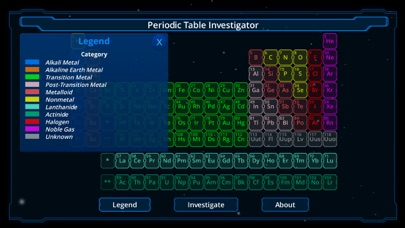 Periodic Table Investigator screenshot three