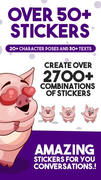 Screenshot #4 for Piggy - Sticker Pack