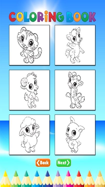 Animal Coloring Book - Activties Paint for Kids screenshot-4