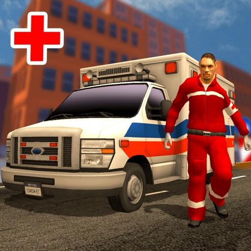 Городская клиническая больница скорой помощи Симулятор водителя 2016 - врач скорой помощи и пациент спасательной Транспорт 3D