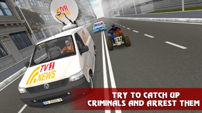 Police ATV Simulator: City Quad Bike Racing Full screenshot two