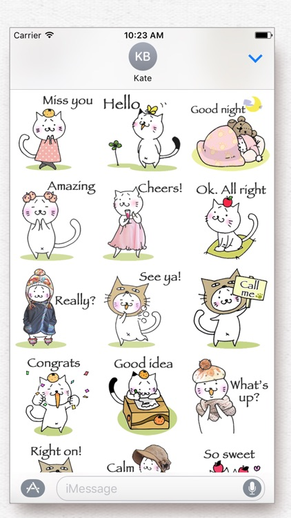 Kitty Cat Mayuneko Stickers Free screenshot-2