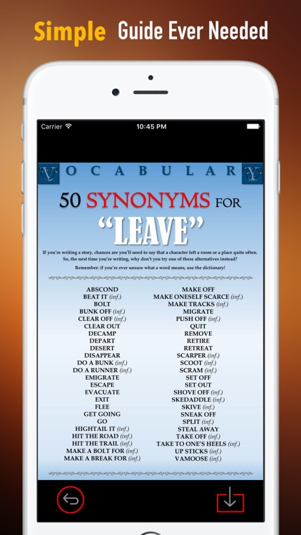 English Synonyms Dictionary and Flashcards Guide screenshot-1