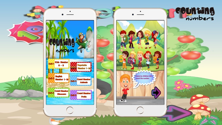 Learn number counting english for preschoolers