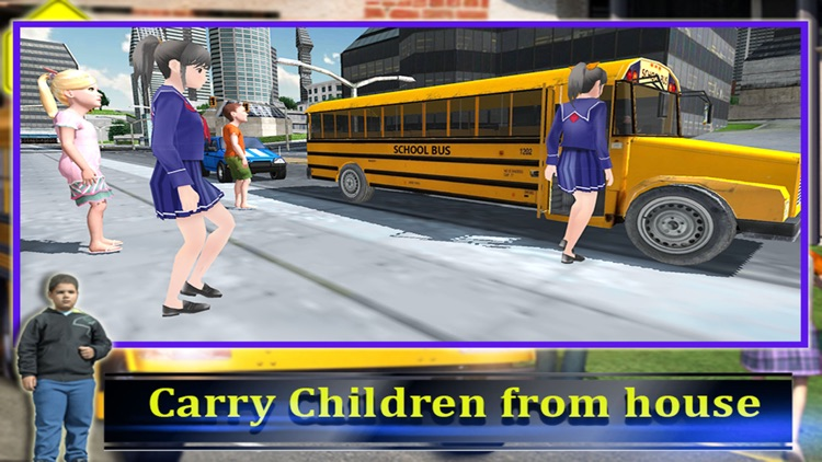 School Bus Driver 3D 2016 screenshot-3