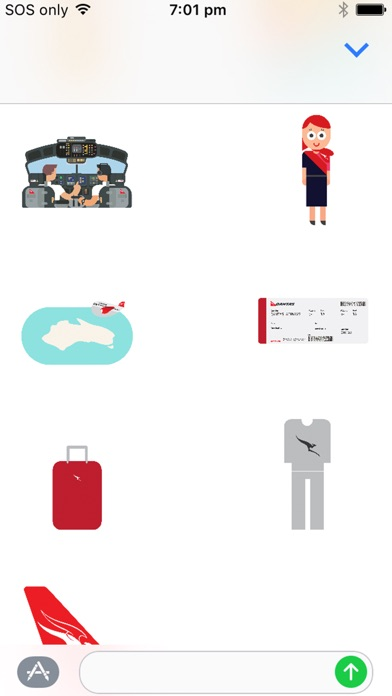 Qantas Stickers-2