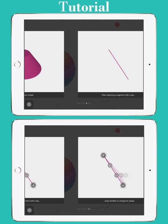 3D Shape Creator: 3D Revolved Modelling App screenshot-4