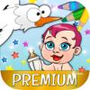 Storks Coloring Book for kids - Premium
