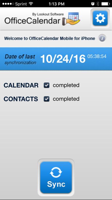 OfficeCalendar Mobile screenshot one