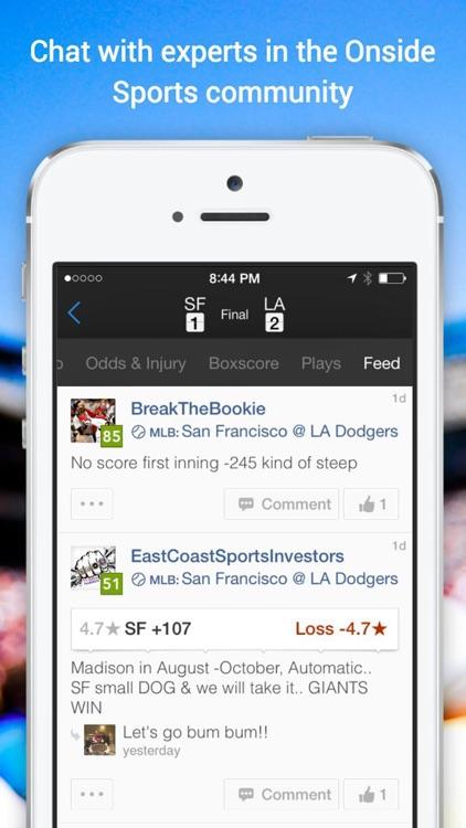 Onside Sports: Scores, Odds, Betting Stats & Picks screenshot-3