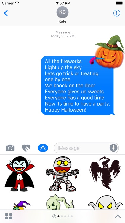 Crazy Halloween Sticker for iMessage #16
