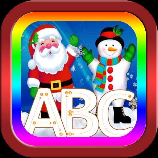 ABC Alphabet Tracer Santa Claus song game for baby iOS App