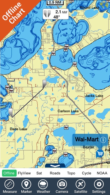 Michigan & Superior Lakes HD GPS Map Navigator